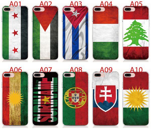 For Samsung 2018 Series J8 J7 J6 J4 Plus J3 J2 Pro A9 A8 A7 A6 Plus A5 case print pictures National flag back cover Phone case 10pcs