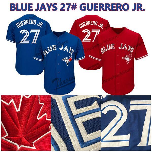 Vladimir Guerrero Jr. Blue Jays Jersey Toronto Béisbol Jerseys Envío gratis Cool Base Flex Base Hombres Mujeres