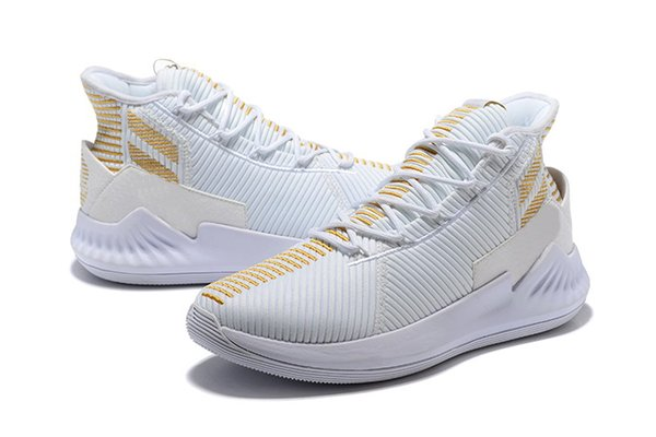 D Rose 9 white Gold shoes for sales new Derrick Rose 9 Basketball shoes store wholesale price US7-US11.5