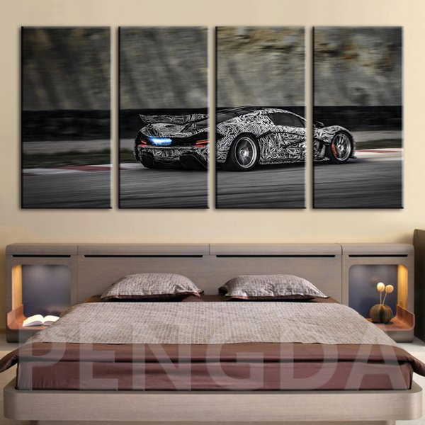 Wall Art Hd Picture Canvas Painting Retro Cool Sports Car Prints Modular Home Decoration Modern Poster Framework For Living Room