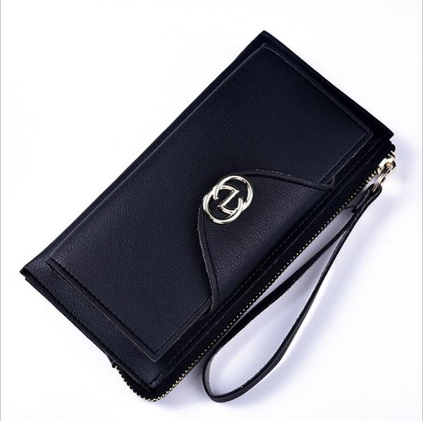19SS New wallet Ladies Long Fashion Korean version with discount double-decker women's Wallet Zipper and handbag