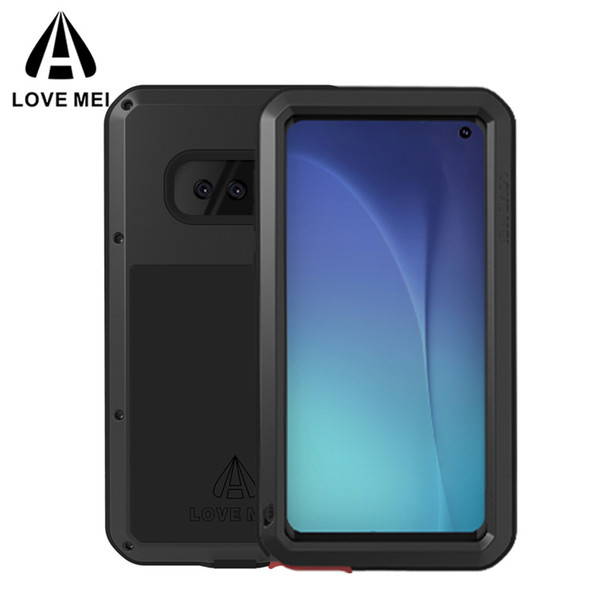 For Samsung Galaxy S10 S10 Plus Case LOVE MEI Dirt-Proof Water-Resistant Metal Armor Cover for Samsung Galaxy S10+ S10e Shock Phone Case
