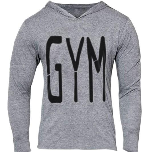 GOLDS GYM Letter Print Slim Mens Hoodies Jogger Casual Sudaderas con capucha Thin Fit Pullover Hoodies Hombre Tops