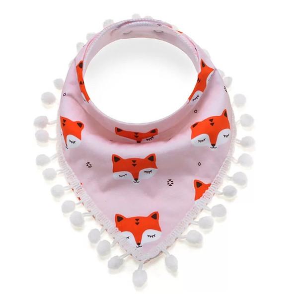 Fox Design 100% Cotton Quality Baby Bibs Baby Infant Boy Clothes Kids Girls Burp Cloths Newborn Feeding Floral Lace Baby Triangle Bibs