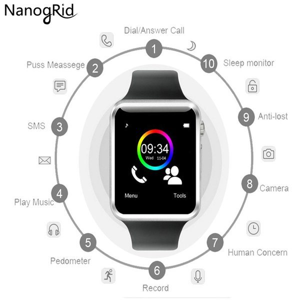 A1 WristWatch Bluetooth Smart Watch Sport Pedometer with SIM Camera Smartwatch For Android Smartphone Russia T15 good than GT08