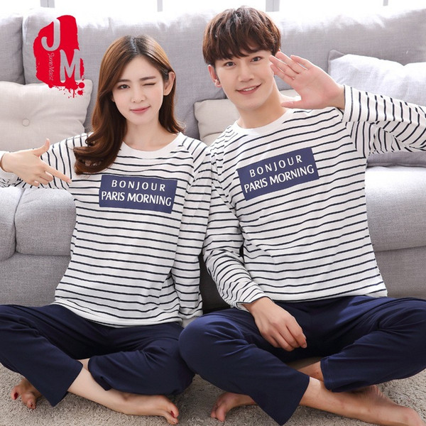 O-neck Sleepwear Men Long Sleeve Cotton Winter Sleepwear Men Casual Cartoon Pajamas Male Full Cotton Pyjama Male 4xl Solid Sleep
