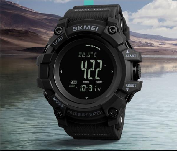 Mode Uhr Trend Multifunktions-Outdoor-Sportarten Countdown-Kalender Kompass Männer Multifunktions-Luftwettervorhersage elektronische Uhr