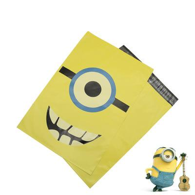 Cute mailer 28*42cm Mail Bags with cartoon Minions plastic express bags Transport Packaging annimal poly material style