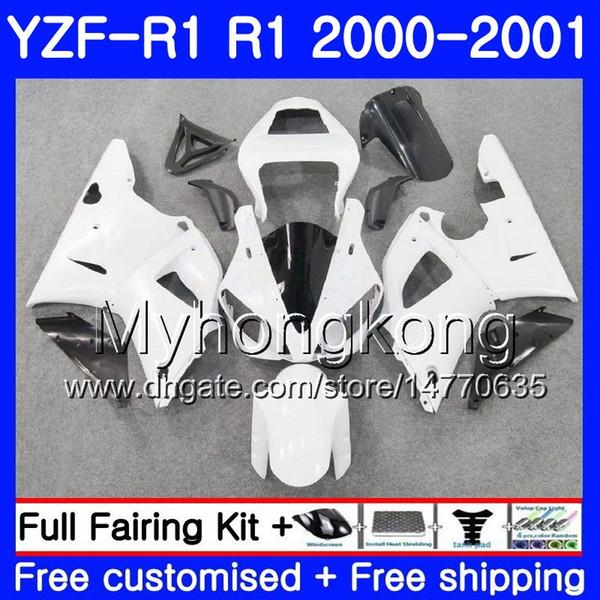 Body For YAMAHA YZF 1000 YZF R 1 YZF-1000 Gloss white hot YZFR1 00 01 Frame 236HM.38 YZF-R1 00 01 Bodywork YZF1000 YZF R1 2000 2001 Fairing