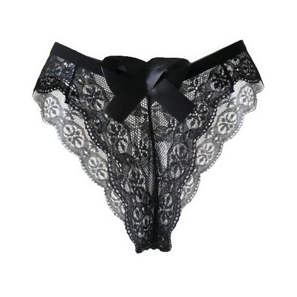CALOFE Plus Size Underwear Women 3XL Sexy Hollow Out Transparent G-strings Fashion Lace Low Waist Breathable Ladies Panties