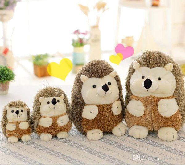 2019 Nova animal simulação de pelúcia Toy 22 centímetros Hedgehog boneca criativa brinquedos de pelúcia Animais caçoa o presente de Natal Brinquedos