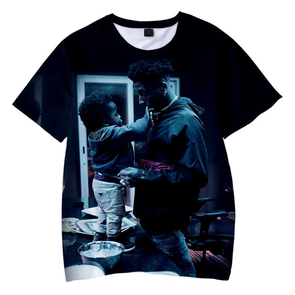 Adult Children's Garment Fund Blueface Popularity Rap Male Singer 3d Number Printing Short Sleeve T Pity