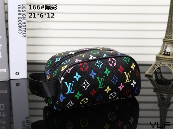 En çok satan 2019 En kaliteli kadın Deri kozmetik çantası Ünlü marka Tasarımcısı Zippy Tuvalet Çanta makyaj çantası LXY166
