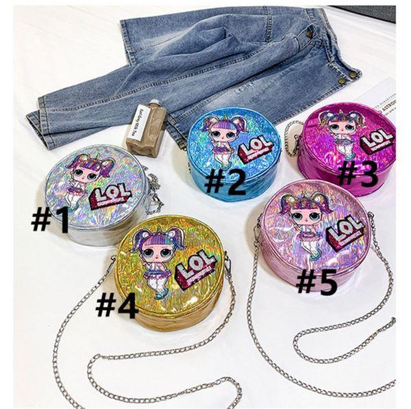 Surprise Girls Laser Chain Single Shoulder Bags Women Party Outdoor Travel Storage Mobile Phone bag Cartoon Purse Makeup Crossboy Bag B71002
