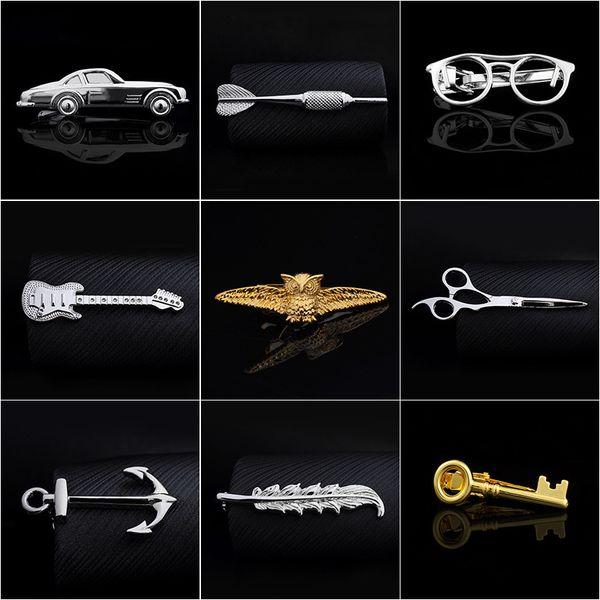 Krawattenklammern 24 farben mode Business neck clip männer gold Krawattenklammer Für vatersilber krawattenklammer weihnachtsgeschenk freies TNT Fedex