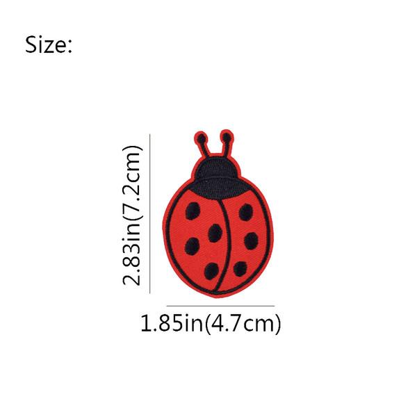 3 Ecussons patchs brodés coccinelles enfants iron on patches ladybugs 6 cm