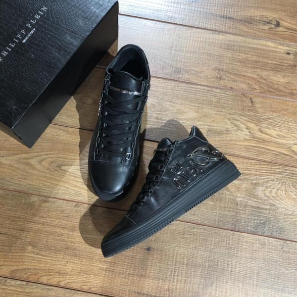 Zapatos de diseño de impresión de calidad superior gris blanco ACE bordado para hombre de cuero genuino zapatillas de deporte de diseño de marca de lujo zapatos casuales B003