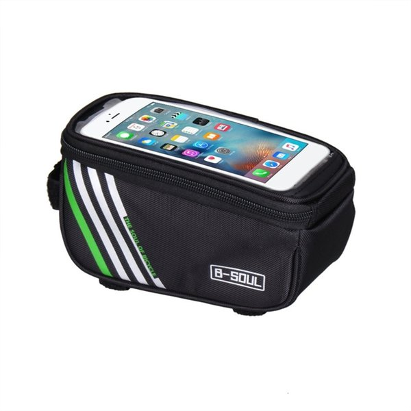 B-SOUL Touch Screen MTB Bike Bicycle Bags Waterproof Cycling Top Front Tube Frame Bags Bike Accessories for 4.8inch iPhone 6 7 #200626