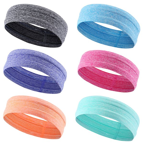 2019 Women Sports Yoga Hair Band Headband Trendy Solid Color Ladies Elastic Yoga Sport Sweat Running Headband Dropshipping