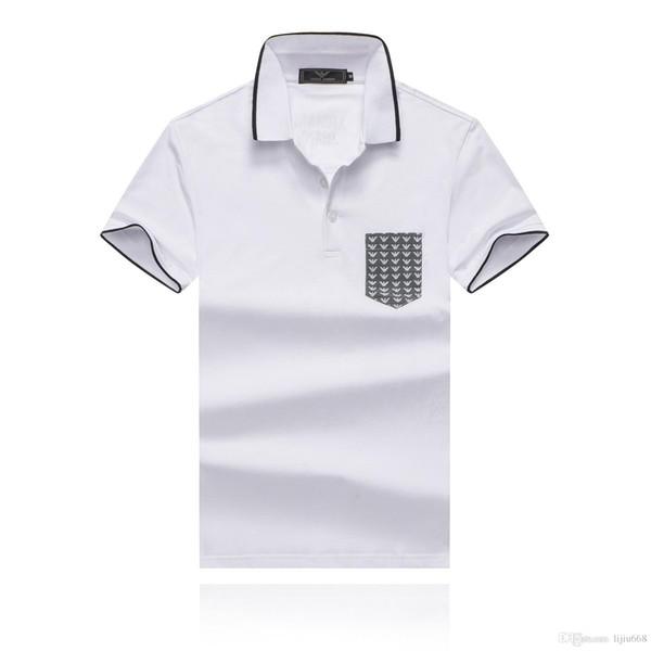 7d07ff7008 Nova qualidade camisa polo verão moda masculina camisa polo 2019 Lazer  Algodão bolso design personalidade homens de manga curta polo camisas topos