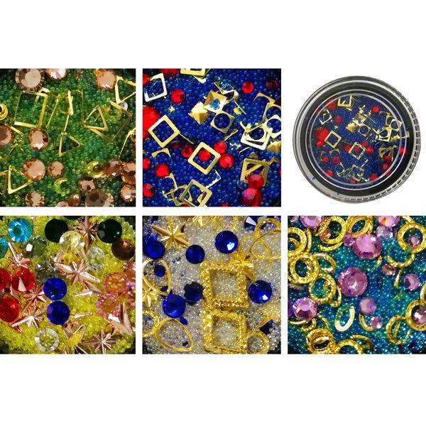 BEAUTY7 1PCS Round Nail Art Decoration Nail Rhinestones for Acrylic UV Gel Shinning Body Art Accessories Stickers