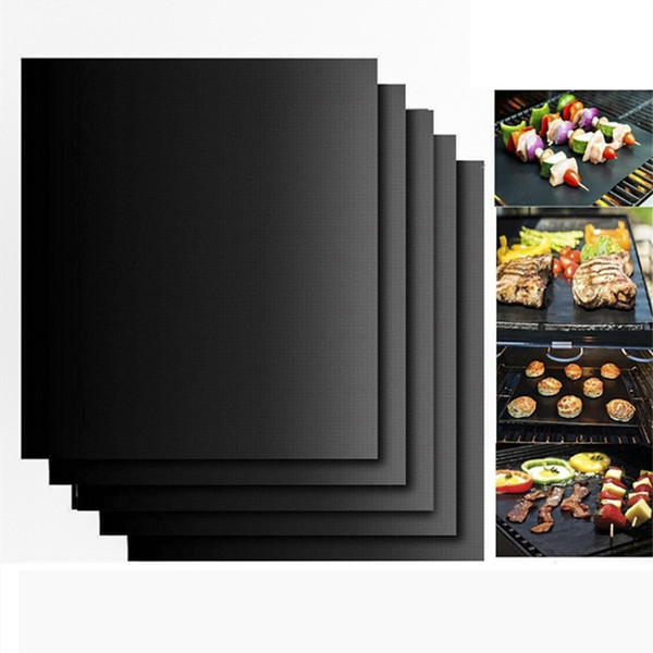 2 Size Non-Stick BBQ Grill Mat Thick Durable Gas Grill barbecue mat Reusable Microwave Grill Mat Sheet Picnic Cooking Tool