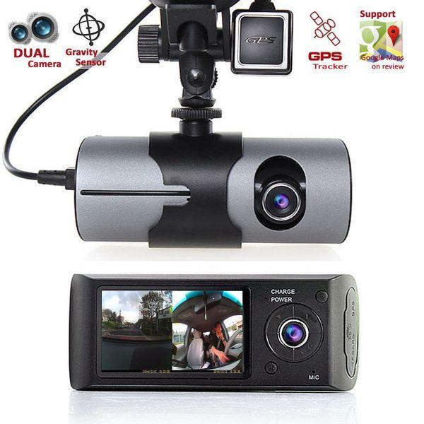"2.7"" TFT LCD with GPS Logger and G-Sensor HD Dual Camera Front/Rear Cam Dash Cam Driving Recorder Car Blackbox DVR car dvr"