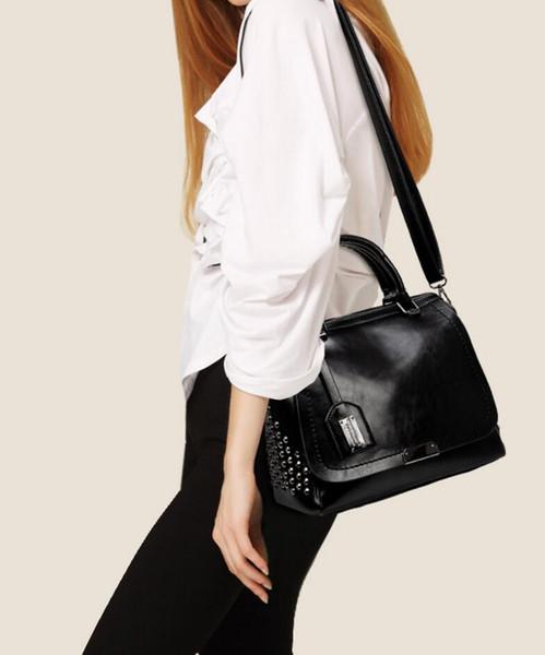 borsa delle donne delle borse del medico borse famose del cuoio dell'unità di elaborazione borsa famosa del progettista della borsa a tracolla del ribattitore 516