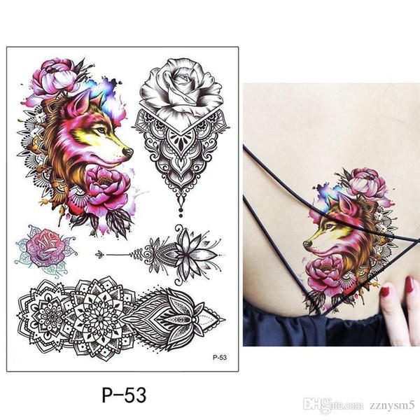 Neue realistische 3D Tattoo Aufkleber wasserdicht sexy Schmetterling Tattoo Aufkleber decken Narben Flowerstickers Bikini Dekoration
