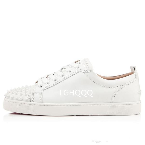 Yeni Tasarımcı Marka Çivili Spike Flats ayakkabı Kırmızı Alt ayakkabı Erkek Kadın Parti Severler Hakiki Deri Sneakers için 35-46 Ücretsiz nakliye