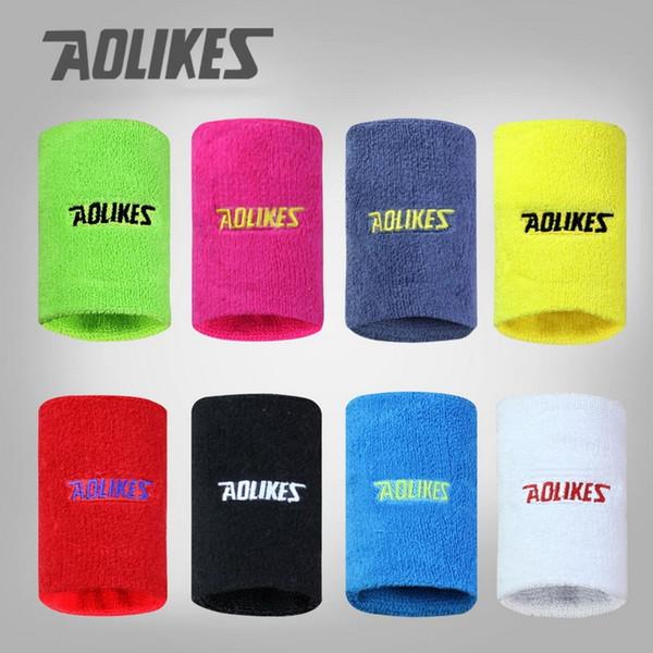 AOLIKES 1 Pair Gym Yoga Sweat Band Fitness Wristband Sport Sweatband Wrist Brace Support For Tennis Running Volleyball zweetband #280327