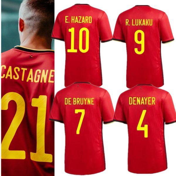 4XL 2019 2020 men & kids Belgium Home away LUKAKU HAZARD KOMPANY DE BRUYNE MERTENS Soccer Jersey 2020 European Cup sports football shirt