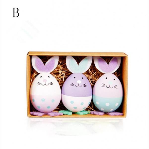 Paskalya küçük oyuncaklar Bunny Yumurta DIY plastik boyama zanaat süsler doğum günü hediyeleri çocuk eğitici oyuncaklar Bunny Yumurta Seti MMA1326 100 takım