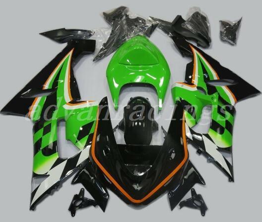 New ABS motorcycle bike Fairings Kits Fit For kawasaki Ninja ZX6R 636 2005 2006 05 06 6R 600CC fairing kits cool green black