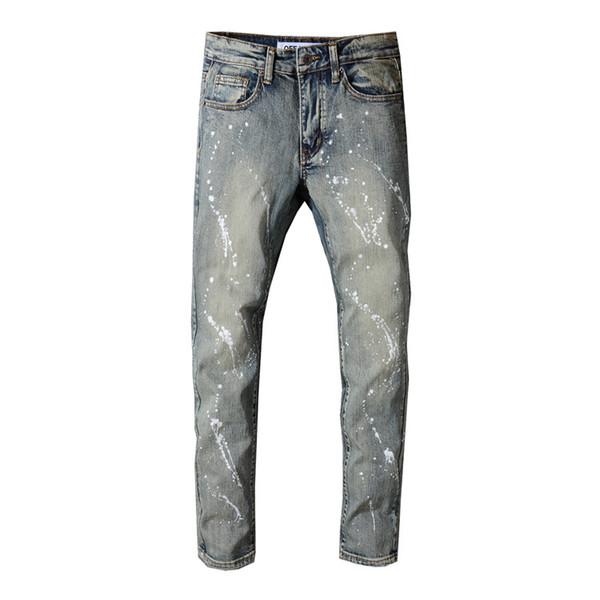 envío gratis 095be 2779e Compre Pantalones Vaqueros De Diseño De Los Mejores Vendedores De Los  Hombres Pantalones Vaqueros Grises De Los Hombres De Los Hombres De  Mezclilla ...