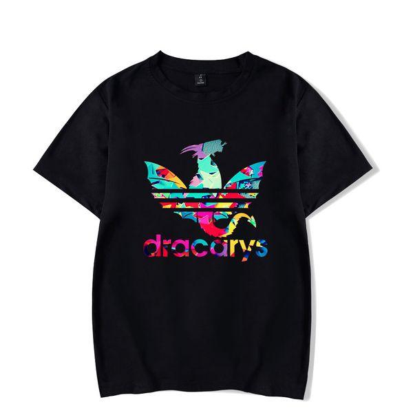 Игра престола Dracarys Футболки Унисекс Взрослые harajuku Футболка в винтажном стиле Camisetas hombre Футболка Уличная одежда Мужская одежда
