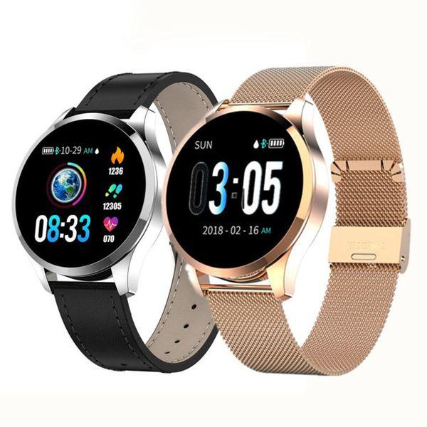 Q9 Смарт часы Водонепроницаемого сообщения напоминания вызова SmartWatch мужчины пульсометр моды Фитнес Tracker рк Q8 Q1 CF08 P70
