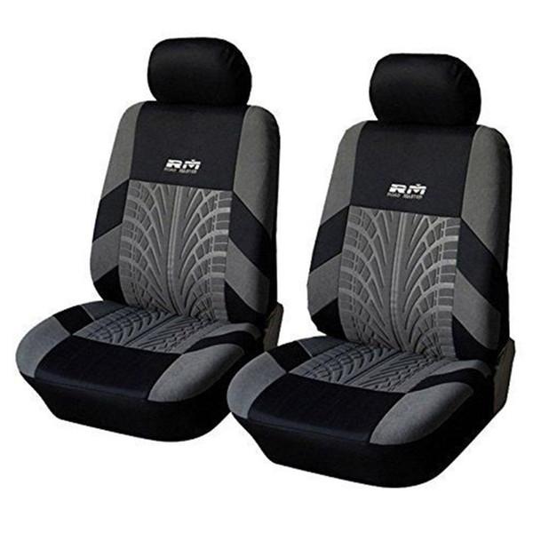 2pc Universal Automobiles Cubierta de asiento de coche Frente doble Car-styling Protector de coche Accesorios cubre Fit Auto decoración de interiores
