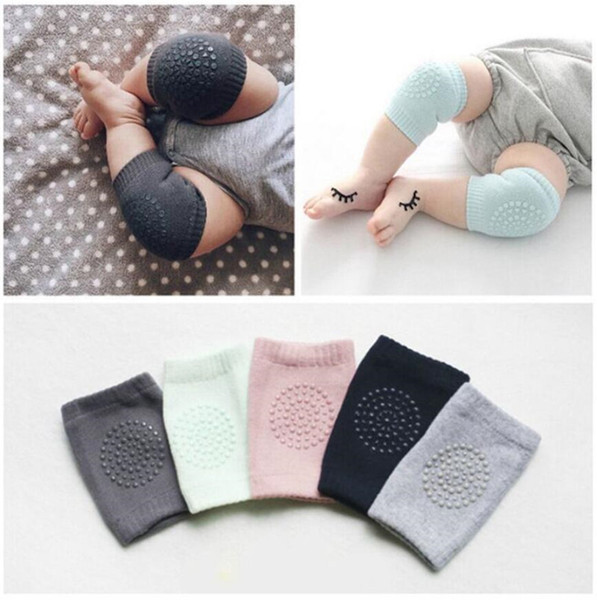 Baby Knee Crawling Pads Cartoon Safety Cotton Protector Kids Kneecaps Children Short Kneepad Baby Leg Warmers 2pcs Lot Elbow Cushion A42205