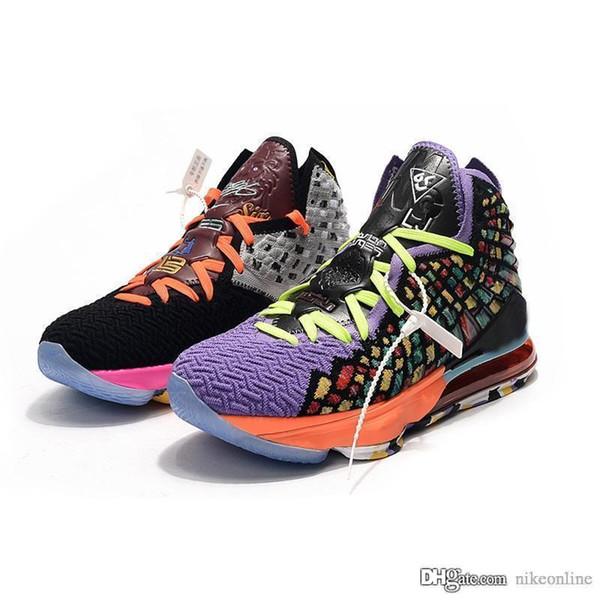 Bon marché des nouvelles femmes lebron 17 chaussures de basket-ball à vendre MVP Oreo BHM Noël easters jeunes Lebrons bottes de James avec la taille de la boîte 5 12