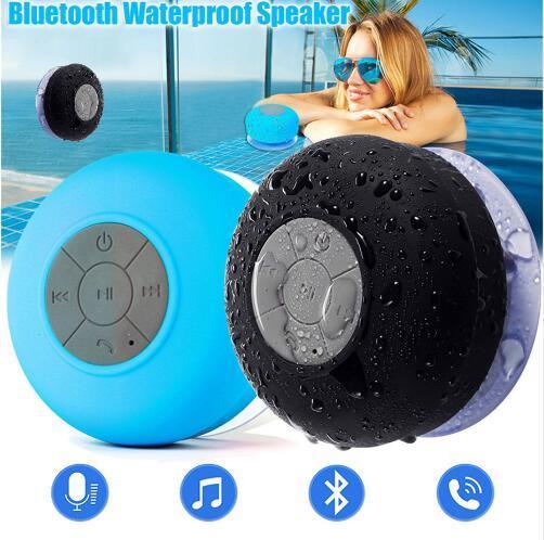 Mini Taşınabilir Subwoofer Kablosuz Su Geçirmez Bluetooth Hoparlör Handsfree iPhone Samsung Için Çağrı Müzik Emme Mic Alma