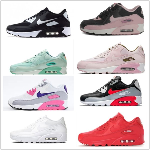 top popular 2019 Air New Max 90 Hot Parra Punch Air Photo Flat Feet Blue Red Black Mens Women Shoes Casual Volt Habanero Flair Sneakers EUR36-45 2019