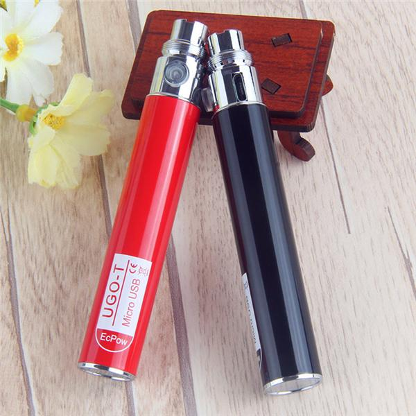 정통 UGO V II 650mah Vape Pens Ego 배터리 Evod Vaporizer Pen 마이크로 USB 패스 스루 충전 왁스 펜 E 담배 무료 DHL