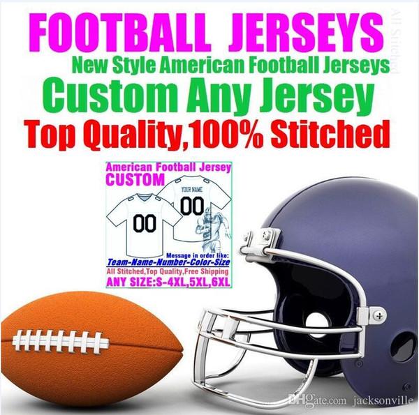 Personalizzato maglie da football americano Personalizzato Tennessee Denver college autentico baseball da basket a buon mercato hockey jersey 4xl 6xl 8xl vendita