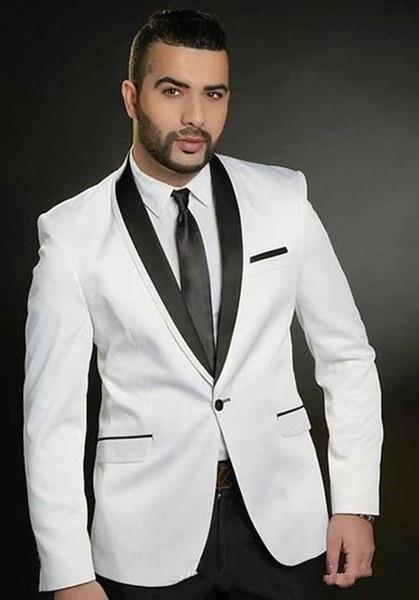 Nouveau design classique blanc smokings marié Groomsmen meilleur homme Costume Hommes Costumes de mariage Costumes Epoux d'affaires (veste + pantalon + cravate) 1025
