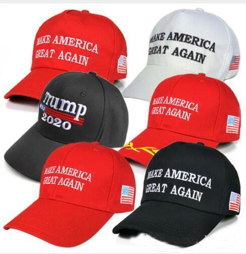 top popular 40Pcs Make America Great Again Hat Donald Trump Republican Snapback Sports Hats Baseball Caps USA Flag Mens Womens Fashion Cap AC53 2020