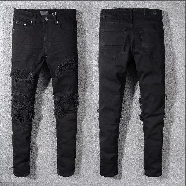 Herren-Designer Jeans Hip Hop Hosen Drucke printd Zipper Mode und Kleidung Reißverschluss Multi-Style und Multi-Color Beliebte Kleidung 2019 Neu