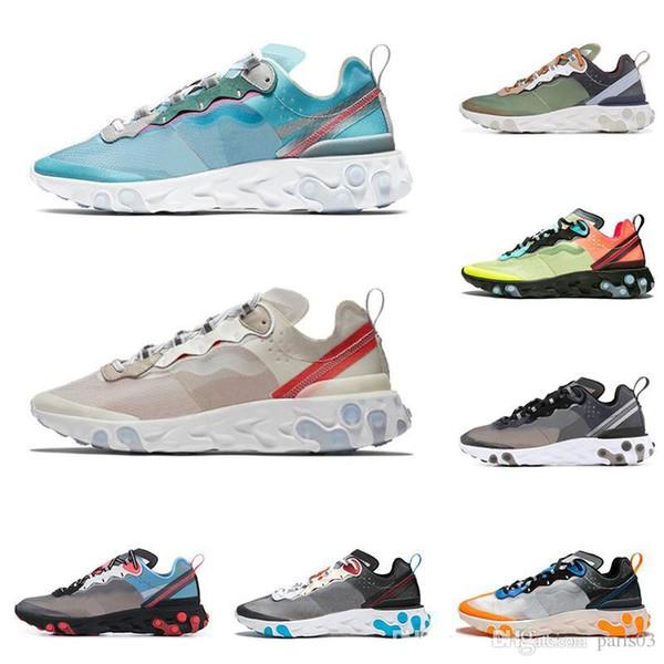 nike air max Épico Reagir Elemento 87 tênis para mulheres dos homens branco preto Royal Tint azul Deserto Areia dos homens designer de esportes respirável sapatilha tamanho 6-11