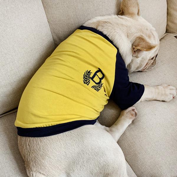 Summer Autumn Pet Clothes Teddy Bichon French Bulldog Small Dog T-Shirt Cat Dog Letter Print Apparel Clothing