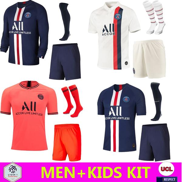 Acheter MAILLOTS DE FOOTBALL PSG JORDAN 19 20 Soccer Jersey De La Psg 2019 2020 Maillot De Foot Paris Saint Germain 18 19 NEYMAR MBAPPE ICARDI Kit